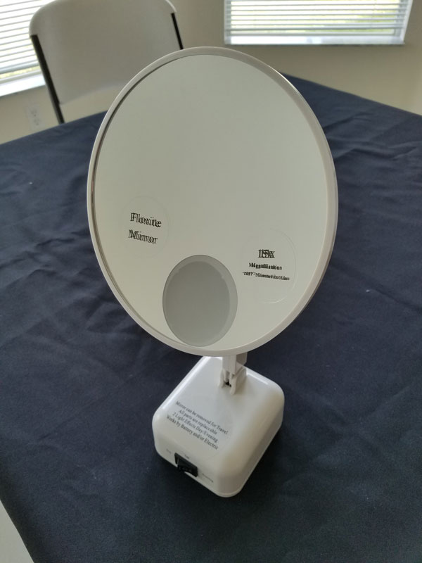 Floxite FL 615 2 15X Supervision Lighted Vanity Mirror   Unboxing
